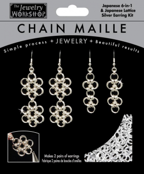 Chain Maille Jewelry Workshop Japanese 6-in-1 Earrings Kit