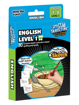 smART Sketcher Learn-A-Language Alphabet Pack English Level 1