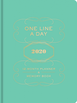 One Line a Day 2020 Planner & Memory Book