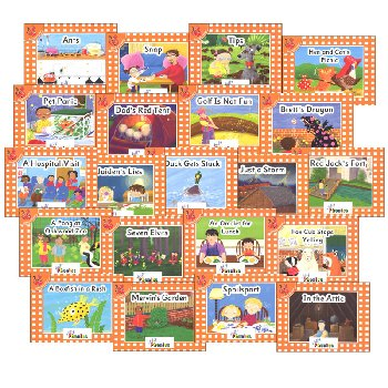 Jolly Phonics Decodable Readers Level 0 Complete Set (21 Titles)