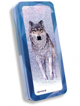 Snow Wolf 3D Pencil Tin