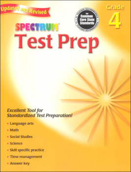 Spectrum Test Preparation Grade 4