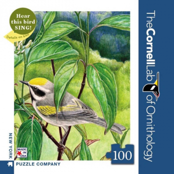 Golden-Winged Warbler - 100 piece Mini Puzzle (Cornell Birds)