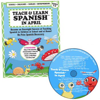 Teach & Learn Spanish in April (Book & CD)