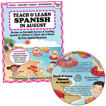 Teach & Learn Spanish in August (Book & CD)