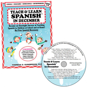 Teach & Learn Spanish in December (Book & CD)