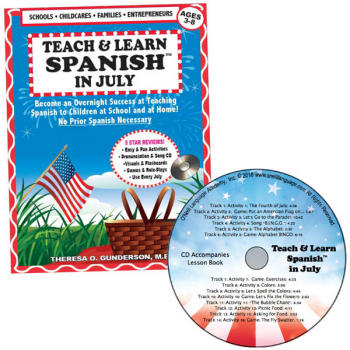 Teach & Learn Spanish in July (Book & CD)