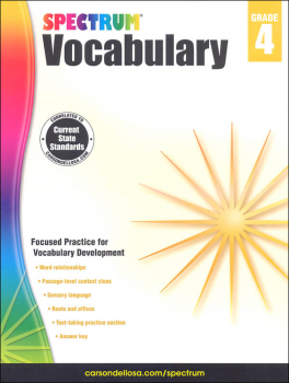 Spectrum Vocabulary 2015 Grade 4