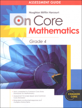 On Core Mathematics Student Assessment Guide Grade 4