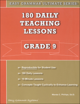 Easy Grammar Ultimate Series: 180 Daily Teaching Lessons Grade 9 Teacher Edition