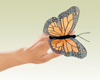 Mini Monarch Butterfly Finger Puppet