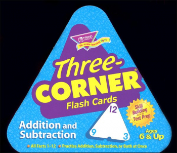 Three Corner Flash Cards: Addition & Subtract