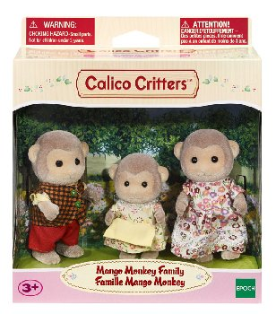 Mango Monkey Family (Calico Critters)