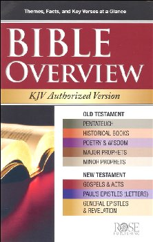 Bible Overview KJV Authorized Version Pamphlet