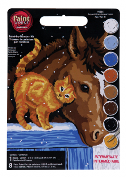 Pony and Kitten Paint-By-Number (Intermediate)