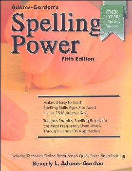 Spelling Power 5th Edition (Adams-Gordon's)