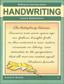 Cursive Maintenance Grade 5 (WFL Series)