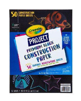 Crayola Project: Black Premium Construction Paper (50 sheets)