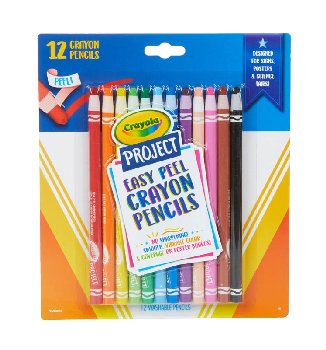 Crayola Project: Easy Peel Crayon Pencils (12 count)