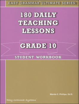 Easy Grammar Ultimate Series Grade 10 Student Workbook