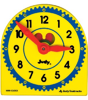 "Judy Geared Plastic Mini-Clock (5"" x 5"")"