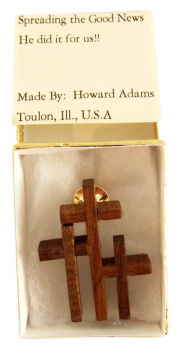 Triple Cross Pin - Black Walnut