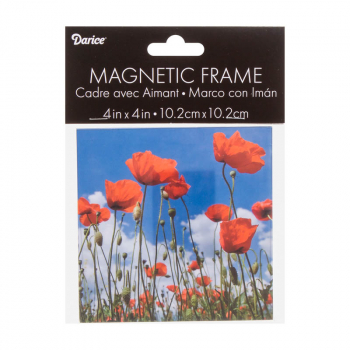 "Modern Magnetic Frame: 4"" x 4"" Clear Acrylic"