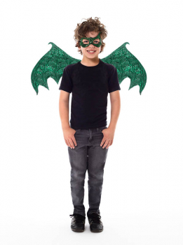 Green Dragon Wing & Mask Set