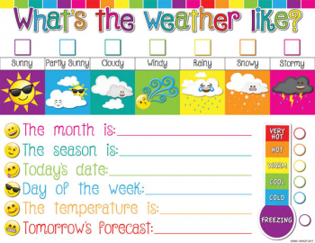 Weather Emoji Smart Poly Chart Write-On/Wipe-Off