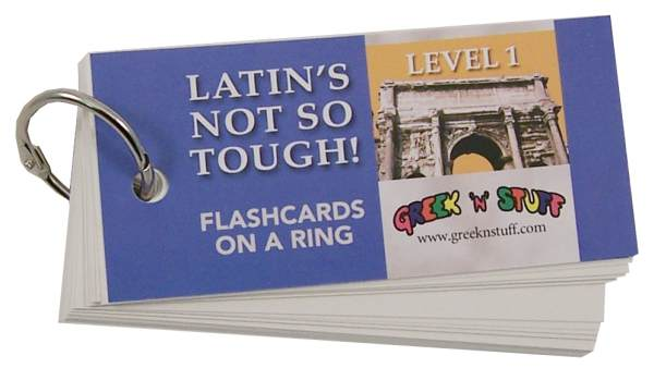 Latin's Not So Tough Flashcards on a Ring Level 1