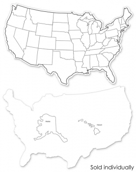 "USA Map Whiteboard, 2-sided 9"" x 12"""