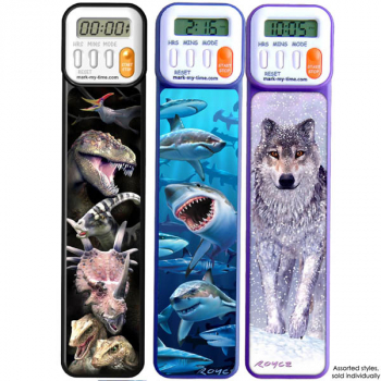Mark-My-Time 3D Digital Bookmark Assorted Style