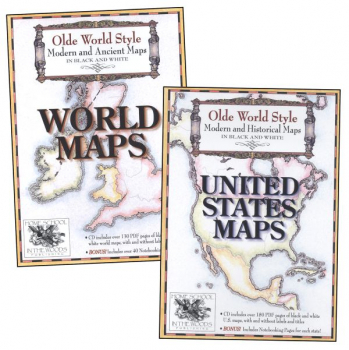 Olde World Style United States & World Maps CD Combo-Pak