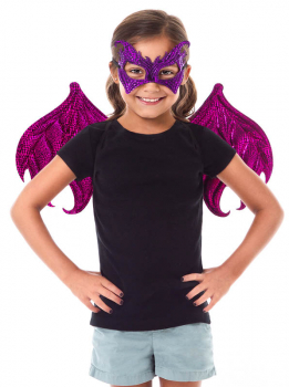 Pink/Purple Dragon Wing & Mask Set