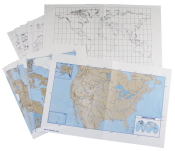 Mapping the World by Heart Blank Outline Maps (Set of 25)
