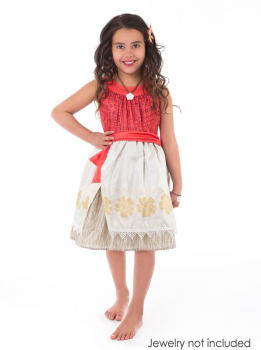 Polynesian Princess Dress with Hair Clip - X-Large