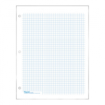 "Graph Paper, Classic 1/4"" Squares (100 sheet pack) - Blue"