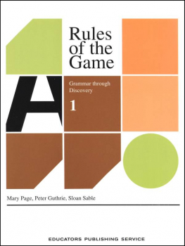 Rules of the Game Book 1