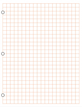Graph Paper, Metric 1 cm Squares (100 sheet pack) - Red
