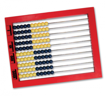 Abacus, Side-to-side, Blue and Yellow