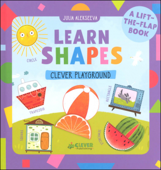 Learn Shapes Lift-the-Flap Book (Clever Playground)