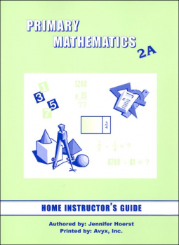 Primary Math US 2A Home Instructor Guide for 3rd edition