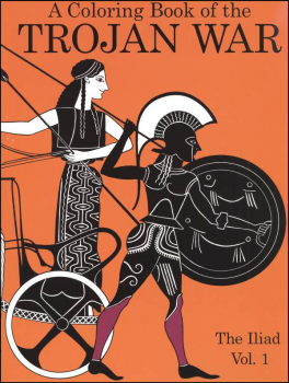 Coloring Book of Trojan War: Iliad Vol. 1