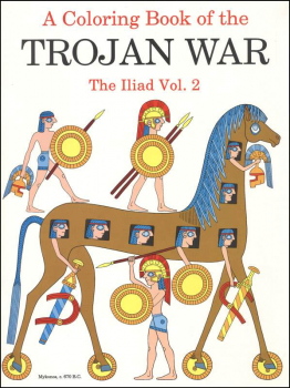 Coloring Book of Trojan War: Iliad Vol. 2