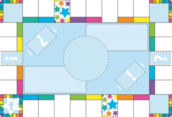 Game Board Squares Smart Poly Chart Write-On/Wipe-Off