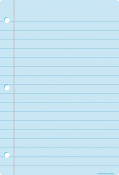 Notebook Page Smart Poly Chart Write-On/Wipe-Off - Light Blue