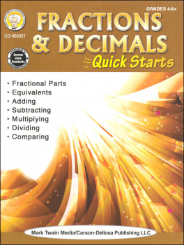Fractions & Decimals Quick Starts (Math Quick Starts)