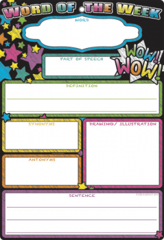 Word of the Week Smart Poly Chart Write-On/Wipe-Off