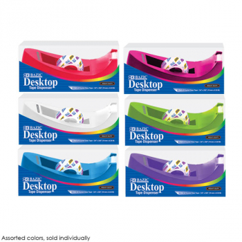 "Core Heavy Duty Desktop Tape Dispenser 1"" with Tape Refill - Assorted Color"