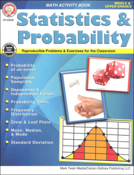 Statistics & Probability Math Activity Book